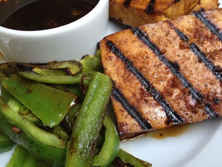 Grilled Tofu with Sweet and Spicy Sauce